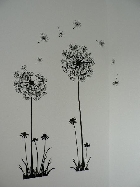 allerlou wand tattoo pusteblumen. Black Bedroom Furniture Sets. Home Design Ideas